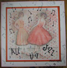 8x8 All that Jazz Quality handcrafted greeting by CraftyMrsPanky