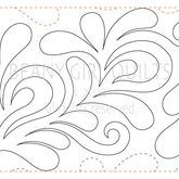 Open Feather design for digital machine quilting systems.
