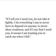 You dropped me...