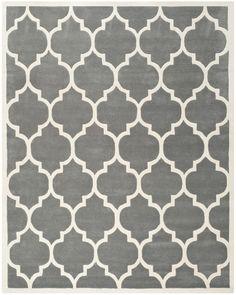 Wilkin Dark Grey & Ivory Moroccan Area Rug