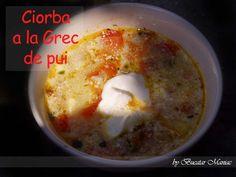 Reteta de ciorba a la Grec de pui Soups, Oatmeal, Pudding, Cooking, Breakfast, Desserts, Blog, Greece, The Oatmeal