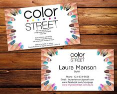 Color Street Business Cards Color Street Personalization and