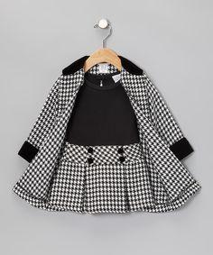 Black Houndstooth Dress & Coat - Toddler & Girls | Daily deals for moms, babies and kids