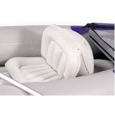 SEC Canoe Seat - Inflatable Paddling Seat : The SEC Canoe Seat from Sea Eagle has a rear air chamber behind the seat back that holds the seat up to provide back support. Made for Sea Eagle's SEC Canoe, this seat also fits well in most inflatable kayaks or canoes, but can be put to a wide variety of uses in boats with deeper cockpits or wells.