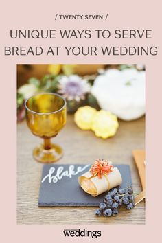 Bread makes for a great wedding appetizer as well as table decor. Your guests will appreciate the pre-dinner snack as well as the unique edible decoration appeal! Summer Wedding Guests, Wedding Reception Food, Wedding Menu, Wedding Ideas, Festive Bread, Wooden Wine Crates, Wedding Appetizers, Food Stations, Cake Photography