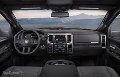 The 2017 Ram Power Wagon's interior mostly carries over from 2016 with a…