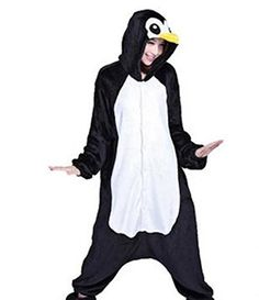 HKSNG High Quality Black Penguin Pajamas Animal Winter Women Men Onesies Hooded Cosplay Costumes Pyjamas Flannel With Zipper Pajama Outfits, Anime Cosplay Costumes, Unicorn Costume, One Piece Pajamas, Costume Accessories, Costumes For Women, Pyjamas, Penguins, Penguin