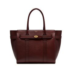 Mulberry - Zipped Bayswater in Oxblood Natural Grain Leather