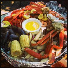 """Dream Lunch"" says this Instagrammer • The Crab Shack (so good!!!) Tybee Island/Savannah, Georgia"