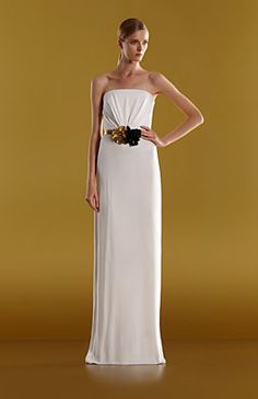 Homegirl is far too thin...but this dress and belt are GORGEOUS.  Gucci Women's Resort 2012.