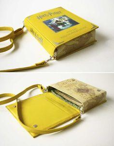 Bolsas em formato de livro para quem ama ler