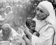 """♥ someone interviewing Sister Teresa asked her how often she prayed during the day her response"""" From the time I get up at 4 AM I'm with the poor, the sick, Jesus in disquise, I'm WITH HIM""""."""