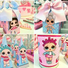 Lol Surprise Dolls Birthday Party. Lol Surprise Dolls. Lol Surprise Birthday Party. 6th Birthday Parties, 8th Birthday, Birthday Party Decorations, Birthday Ideas, Gymnastics Party, Doll Party, Lol Dolls, Party Activities, Unicorn Party