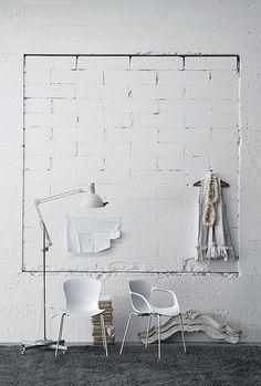 White Brick Walls. #InteriorDesign.