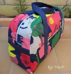 TresP craft blog: BOLSO DE VIAJE DIY {TRAVEL BAG}