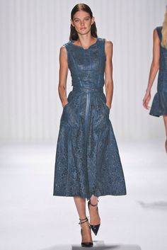 J. Mendel, Look #27 guipure dress spring 2013 rtw