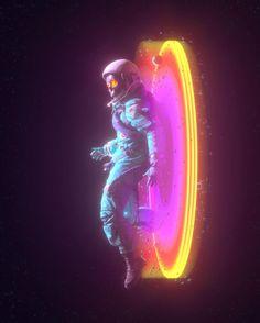 Digital Art Fantasy, Fantasy Art, Astronaut Illustration, Illustration Art, Astronaut Wallpaper, Foto Top, Wallpaper Space, Psycho Wallpaper, Space Artwork