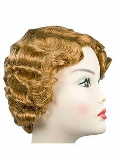 Lacey Gatsby (New) Costume Wig $19.95 (light brown, black, brown, auburn, blonde, light blonde, strawberry blonde, white, gray)