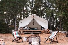 If you're looking to add a little luxury to your next outdoor adventure, we've rounded up the best glamping spots in Ontario. Wanderlust Travel, Glamping, Ontario, Toronto, Patio, Explore, Luxury, Outdoor Decor, Spotlights