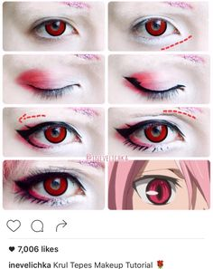 of Inevelichka Check out this awesome cosplayer for step by step makeup tutorials Lenses used :red Manson from our Halloween series Krul Tepes Makeup Tutorial A very big thanks to Shiroi Neko for sponsoring me this amazing and stunning lenses! Anime Makeup Tutorial, Cosplay Makeup Tutorial, Make Up Tutorial Contouring, Makeup Tutorials, Vampire Makeup Tutorial, Eye Tutorial, Cosplay Make-up, Cosplay Anime, Anime Make-up
