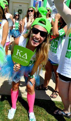 Kappa Delta at University of Alabama, Huntsville #KappaDelta #KD #BidDay #neon #snapback #tutu #sorority #Huntsville