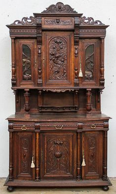 Buy online, view images and see past prices for C French Renaissance Revival Buffet Deux Corps. Invaluable is the world's largest marketplace for art, antiques, and collectibles. Leather Living Room Furniture, My Furniture, Unique Furniture, Rustic Furniture, Vintage Furniture, Painted Furniture, Furniture Design, Outdoor Furniture, Furniture Layout