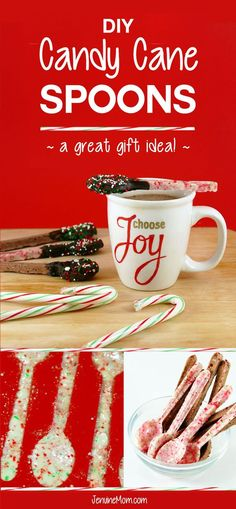 DIY Candy Cane Spoons | Great DIY Christmas Gifts! | http://JenuineMom.com