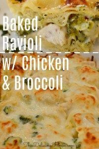 Baked Ravioli with Chicken and Broccoli in a cheesy Alfredo béchamel sauce is so delicious and perfect for a weeknight dinner! Easy to make recipe and no boil ravioli. Frozen Ravioli Recipes, Cheese Ravioli Recipe, Baked Ravioli Casserole, Casserole Recipes, Frozen Ravioli Bake, Easy Ravioli Recipe, Crockpot Ravioli, Ravioli Filling, Homemade Ravioli