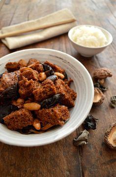 Hong Shao Kao Fu (Braised Wheat Gluten with Mushrooms)