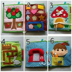 This customized quiet book comes with various fun activities for boy and girl age 2 or older. - The book is made out of Cotton fabric and felt. All of felt applications are no sew. - Select the covers color (6 or 10-18 pages) and then you can choose up to 18 activities. - To