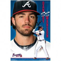 Dansby Swanson Atlanta Braves x Player Wall Poster. Baseball Online 7f10755c019