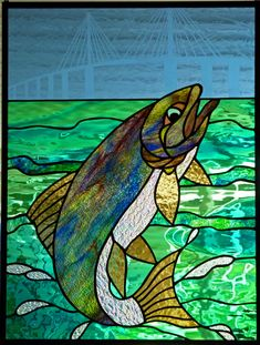 Skyway Bridge (Tampa) Little Earth Mother stained glass
