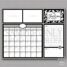 16x20 Custom Damask Everyday Message Center by DelightfulOrder