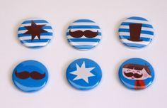 #Moustache #magnets by #Bora illustraties from www.kidsdinge.com