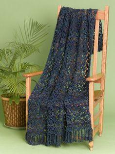Caron Lacy Crochet Throw @ Michael's, free pattern