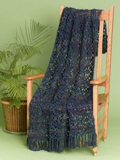 Caron Lacy Crochet Throw @ Michael's, free pattern