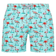 Men's swim trunks with flamingos from Bluemint #Swimwear