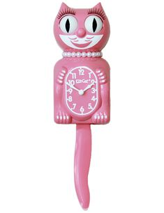 The Strawberry Ice Lady is a perfect shade of pink. This Lady Clock is a great clock for that lovely lady in your life! Vintage Classics, Retro Vintage, Kawaii Bedroom, Cat Clock, Miss Kitty, Important Things In Life, Retro Party, Pink Bedding, Pink Cat