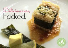 Recipe Hack: Vegan Sushi - http://www.mommygreenest.com/recipe-hack-vegan-sushi/