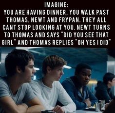 Open rp, be Newt, i am the girl) i walked past silently. In the maze i was in, i was the only girl. I noticed you guys looking at me, i blushed and looked at you, you smiled and mouth lip me. 'Meet me outside the dorms tonight' (Credit to the girl warrior)