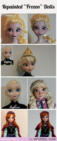"""Frozen"" Dolls With A Fresh Coat Of Paint…"