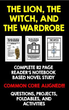The Lion, the Witch, and the Wardrobe: Complete 112 Page Reader's Notebook Based Novel Study! Common Core Aligned! Package contains comprehension questions, answer keys, foldables, projects, graphic organizers, and activities!