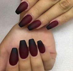 Simple vampy ombre #nailsbymztina #houstonnails