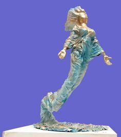 Ana foi pro mar Escultura de fibra de vidro e resina poliéster