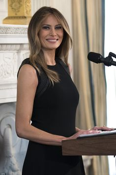 Melania Trump hosted a luncheon in the White House's State Dining Room and invited female ...