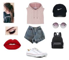 """Untitled #188"" by nikkidoesntcare on Polyvore featuring American Apparel, adidas, Converse, Lime Crime, Nike Golf and Monki"