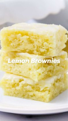 Lemon Dessert Recipes, Homemade Desserts, Lemon Recipes, Baking Recipes, Just Desserts, Delicious Desserts, Yummy Food, Brownie Recipes, Cookie Recipes