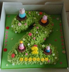 Number 2 Peppa Pig Cake