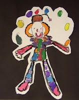 Deep Space Sparkle – Clown art lesson...could have clown juggling the color wheel