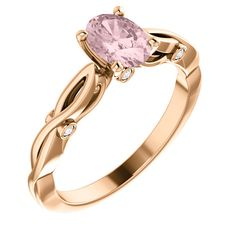 Rose gold Morganite and Round CTW Diamond Semi-set Engagement Ring.Available in Rose,Yellow ,White gold and Platinum. Wedding Engagement, Diamond Engagement Rings, Wedding Rings, Resin Ring, Rings Online, Her Style, Heart Ring, White Gold, Rose Gold